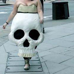 The Skull Dress created by designer Thom Ravnholdt really made me smile!