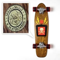 Skills or Skulls Skateboards - love this hand painted poison edition handpainted by Zender.