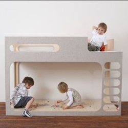 AMBERintheSKY bunk loft bed - modern, refined, and made out of composite materials.