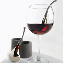 SkyBar™ by Tools Design is a coolant-filled object used to chill a single glass of wine up to 20 times faster than the refrigerator.