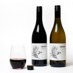 Inhouse Design's gorgeous labels for Skylark Wine with illustrations by London based Hello Von.