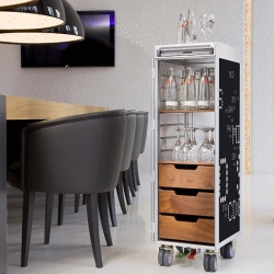 Skypak has taken actual airplane trolleys and repurposed them into fun and cheeky storage carts for the home or office.