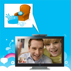 "Skype on TV! ""With Skype on your TV, you'll be able to talk live to people you know and miss on a widescreen high definition TV. The first generation of Skype-enabled TVs will be available in 2010."""