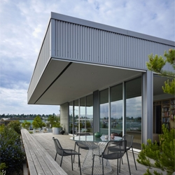 A rooftop house in Stimson Marina, Seattle called Sky Ranch by Miller Hull Partnership.