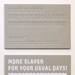 "New ""Business Cards"" from Japanese design group COMMUNE: now in transparent or extra evil."