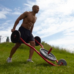 The Sledbarrow is a sports conditioning wheelbarrow targeted at professional athletes and fitness trainers. Designed by former NCAA Division 1 football player Andre Agate (Wyoming).
