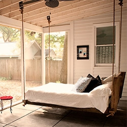 Sleeping PORCH! Love this from the Atlanta house tour of Sweet Peach Blog's Pam.
