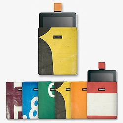 Freitag goes iPad sleeves in their signature truck tarps ~ coming in August 2010