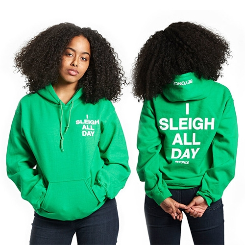 """I Sleigh All Day"" Beyonce Holiday Hoodies in Red and Green"