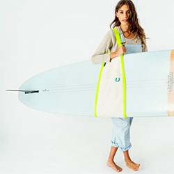 Baggu has a cute new Surf Sling made in collaboration with their neighbors Pilgrim Surf.