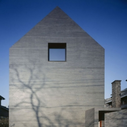 Slit house by AZL Atelier Zhanglei is the first real concrete building in Nanjing City. The entire structure, even roof and facade, are made from concrete.