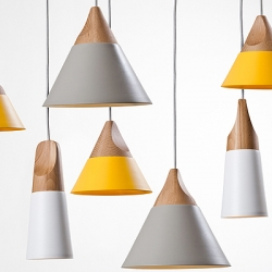 'Slope' series of pendant lamps, designed by the Milan based design studio Skrivo for the Italian brand Miniforms.