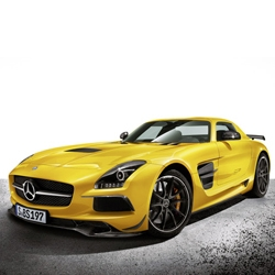 Mercedes Benz unveils the 2014 SLS AMG Black Series and it is the most powerful AMG high-performance automobile to date.
