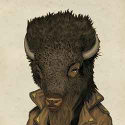 Beautiful anthropomorphic illustrations from Matthias Seifarth. This whole series of animals has a very unique style.