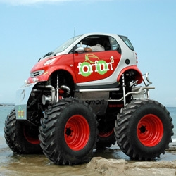 OK, I'm putting my name on the Smart Car waiting list just so I can turn it into a mini monster truck...