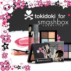 TokiDoki on Smashbox ~ Shade Elaine and i think bonus points for someone who gets pictures of a real person pulling the TD smashbox compact out of a TD le sportsac while wearing TD fornarinas?