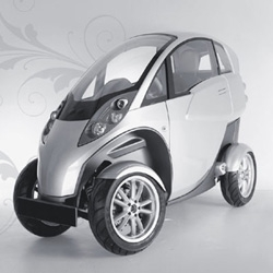 The Lumeneo Smera is a two seat, four wheel electric vehicle that is narrow enough to maneuver as a motorcycle and taking thin to a new transportation extreme.