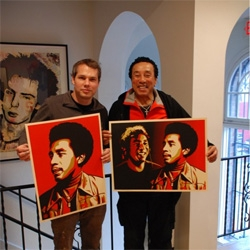 Shepard Fairey's collaboration with Smokey Robinson, hot on the heels with his upcoming print with Cornel West. All of this leading up to BIG summer show with Deitch Projects, before Jeffrey Deitch moves on to head LA MOCA!