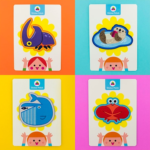 "Night Cake Press Snack Time Collection! Fun kid-friendly sticker patches! ""Products from this line will touch on themes like nature, exploration, adventure, and the arts... all with an emphasis on contemporary design and illustration."""