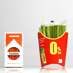 Daizi Zheng has designed a series of clever healthy food packaging to encourage people to change their bad eating habits.