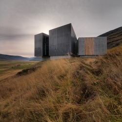 The visitor center at Skriduklaustur is the information center for the east territory of Vatnajökull National park. Designed by Arkís.