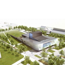 The first project to be built by Norwegian architects Snohetta in the US: the   Wolfe Center for the Arts in Bowling Green, OH. Love how the green roof integrates with the street level, similar to the Oslo Opera they just finished.