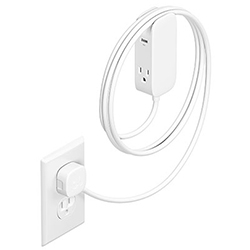 Bluelounge Portiko - a 6-foot extension cord with two outlets and two USB ports, and it's magnetic! Been loving this in NOTlabs - SO useful!