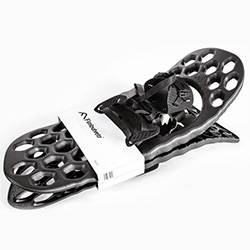 Fimbulbetr Snow Shoes - beautiful design, nice making of video. Norwegian, ergonomic, made of DuPont™ Hytrel® TPC-ET and only 12 pieces, with a specially patented all direction hinge.