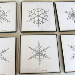 Edward L. Platt's geometric snowflake drawings. He has also created a Web-based application, FlakePad, that allows people to draw their own snowflakes.