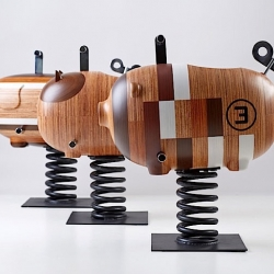 Wooden Rocking Animals by Chan Wai Lim