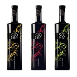 So Chic new special bottles of wine. Fashion in a bottle.