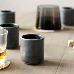 Whiskey Stone Shot Glasses. Store the 2oz glasses in your freezer and you can have an ice cold shot whenever you want - without having to bust out the shaker filled with ice