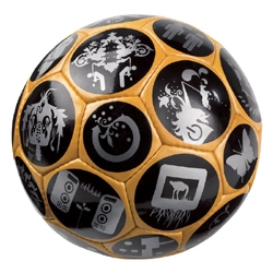 Tournament quality soccer ball designed by Ryan McGinness.