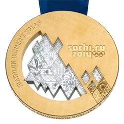 The 2014 Winter Olympics Sochi Medals have amazing detailing, but even more noteworthy, to celebrate the Meteor anniversary, those who win on Feb 15th will have a meteor piece in their medal!