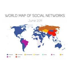 Vincenzo Cosenza's world map of social networks.