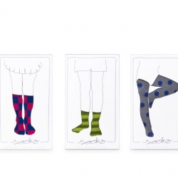 Minimalistic socks packaging designed by Anat Erez Fellner.