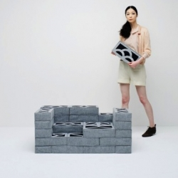 Soft Block by Torafu Architects. Sofas, partitions and seat cushions can be easily built, and you will soon find yourself creating in a playground of blocks.