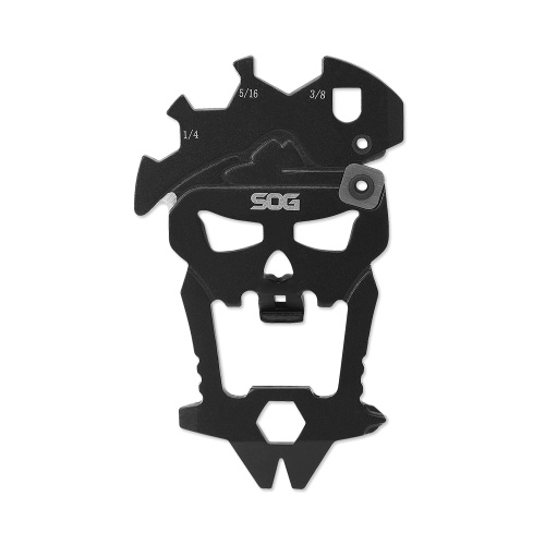 SOG MACV TOOL - Whether you need to open a bottle, tighten a screw, pry a staple out, or touch up a blade on the go, it has what you need. Designed to resemble the original skull from the MACV-SOG group of which the company is named after.