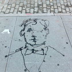 Lovely piece of street art spotted on the streets of Soho.