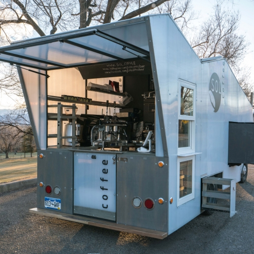 Sol Coffee is a mobile solar powered 3rd wave espresso bar built on the frame of a 1979 Toyota camper.