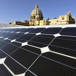 The Vatican is going solar in a big way. It recently announced that it intends to spend 660 million dollars to create what will effectively be Europe's largest solar power plant.