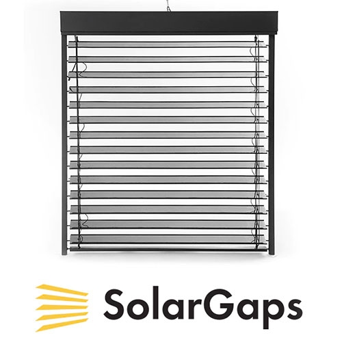 Solar Gaps - interesting idea on kickstarter to have solar panel mini blinds.