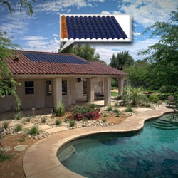 Instead of mounting solar panels on your roof, these solar tiles integrate into the roof itself.