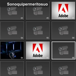 "Adobe has just launched a viral video and a website to promote a new product. Everyone can leave an audio-video message on ""I'm here bacuse of him""."