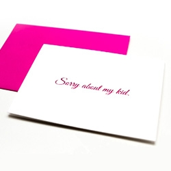 Mom to Mom Cards - All cards are foil pressed with matching pink envelopes. You're an awesome mom. Sorry about my kid. It gets easier. Showers are overrated. Your boob is out. Sorry your husband is sick.