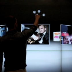 Impressive demonstrations of the interactive multi-touch wall, made by So Touch.