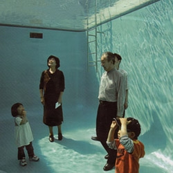 A great art installation by Sanaa Studio for Contemporary Art Museum of Kanazawa. 