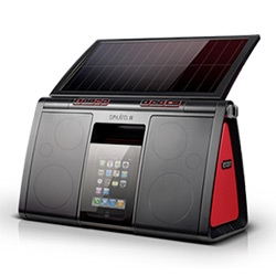 Eton Soulra XL ~ spotted at CES, it's a fun Solar-Powered Sound System for iPod and iPhone