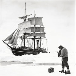 'The Lost Photographs of Captain Scott' taken around the 1910-13 South Pole expedition's winter quarters on Ross Island.