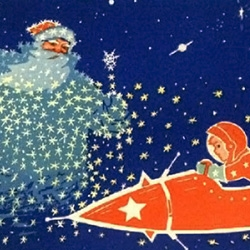 A small but engaging gallery of Soviet era Christmas cards. Lots of Santa and rockets.